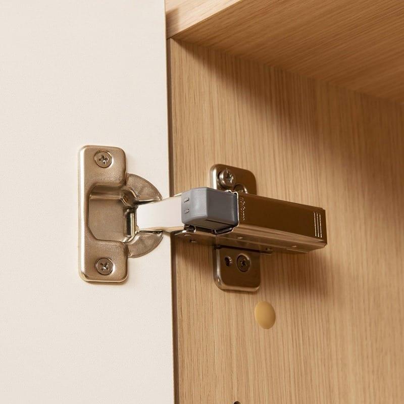 パモウナ 壁面収納 キャビネット CA−800 W(パールホワイト):静かに閉まるダンパー機能