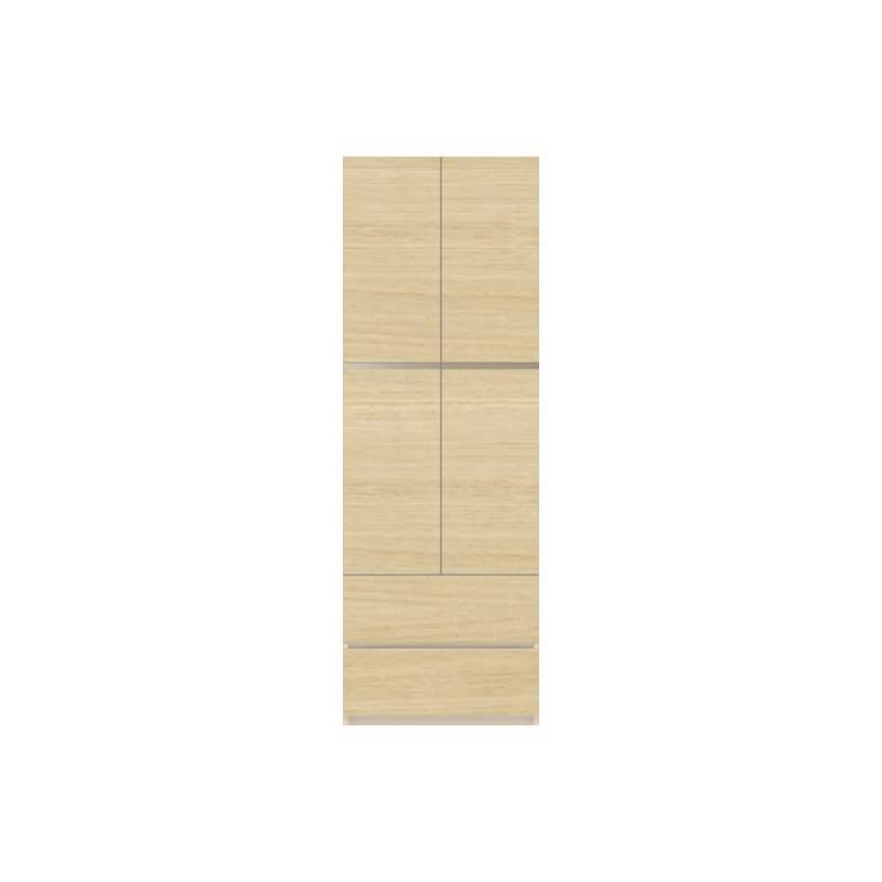パモウナ 壁面収納 キャビネット CA−600 O(ホワイトオーク):収納をまとめてすっきり