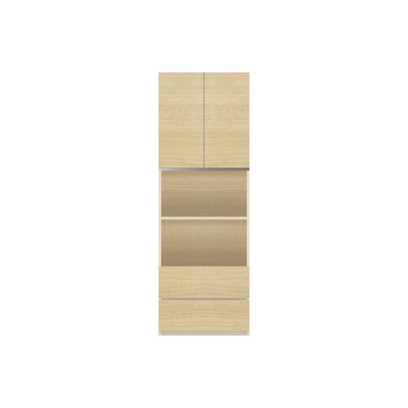 パモウナ 壁面収納 キャビネット【中段オープン】CA−601 O(ホワイトオーク):収納をまとめてすっきり
