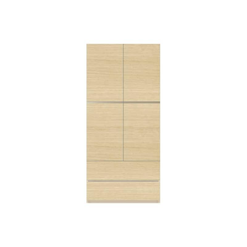 パモウナ 壁面収納 キャビネット CA−800 O(ホワイトオーク):収納をまとめてすっきり