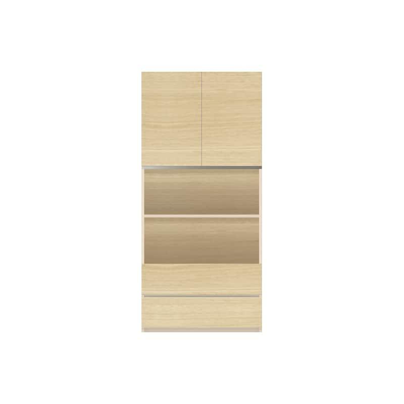パモウナ 壁面収納 キャビネット【中段オープン】CA−801 O(ホワイトオーク):収納をまとめてすっきり