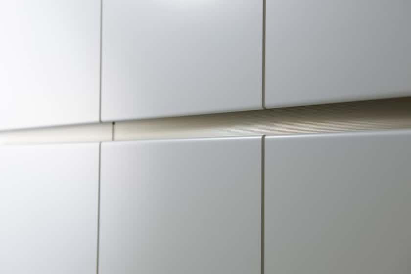 パモウナ 壁面収納 ガラス扉キャビネット左開き【中段オープン】 CA−G401L W(パールホワイト))
