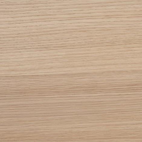 パモウナ 壁面収納 ガラス扉キャビネット左開き【中段オープン】 CA−G401L W(パールホワイト)):木材を使用したような、美しい風合い