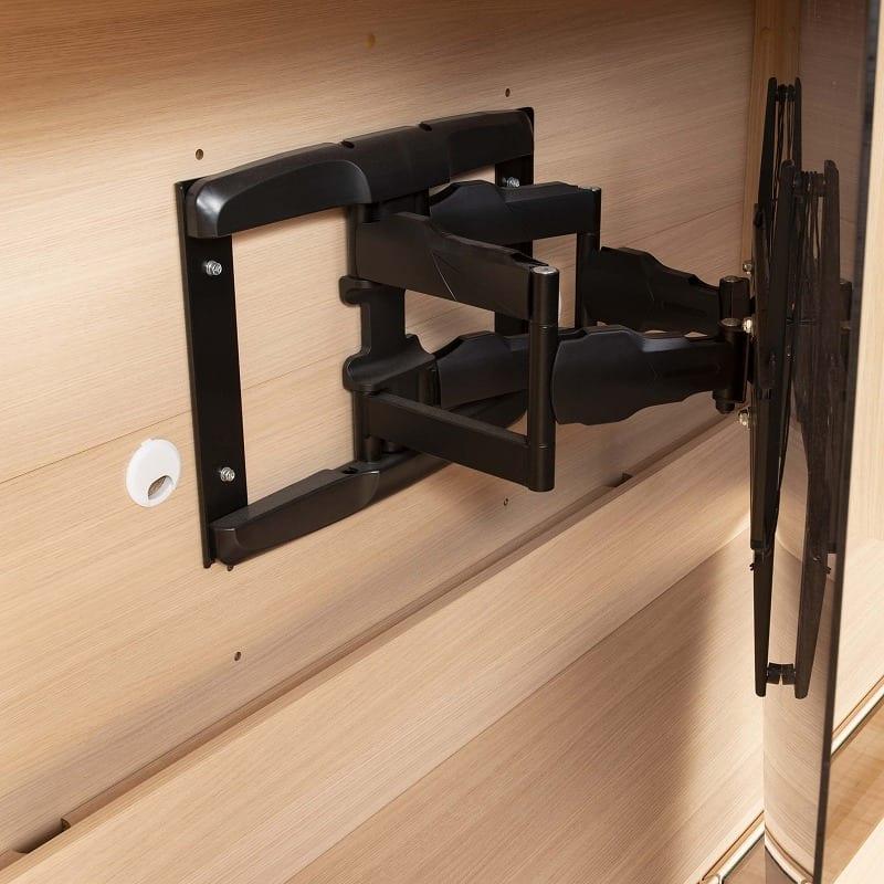 パモウナ 壁面収納 ガラス扉キャビネット CA−G800 W(パールホワイト):TVの壁掛けもOK