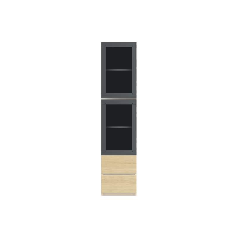 パモウナ 壁面収納 ガラス扉キャビネット CA−G400 O(ホワイトオーク):収納をまとめてすっきり