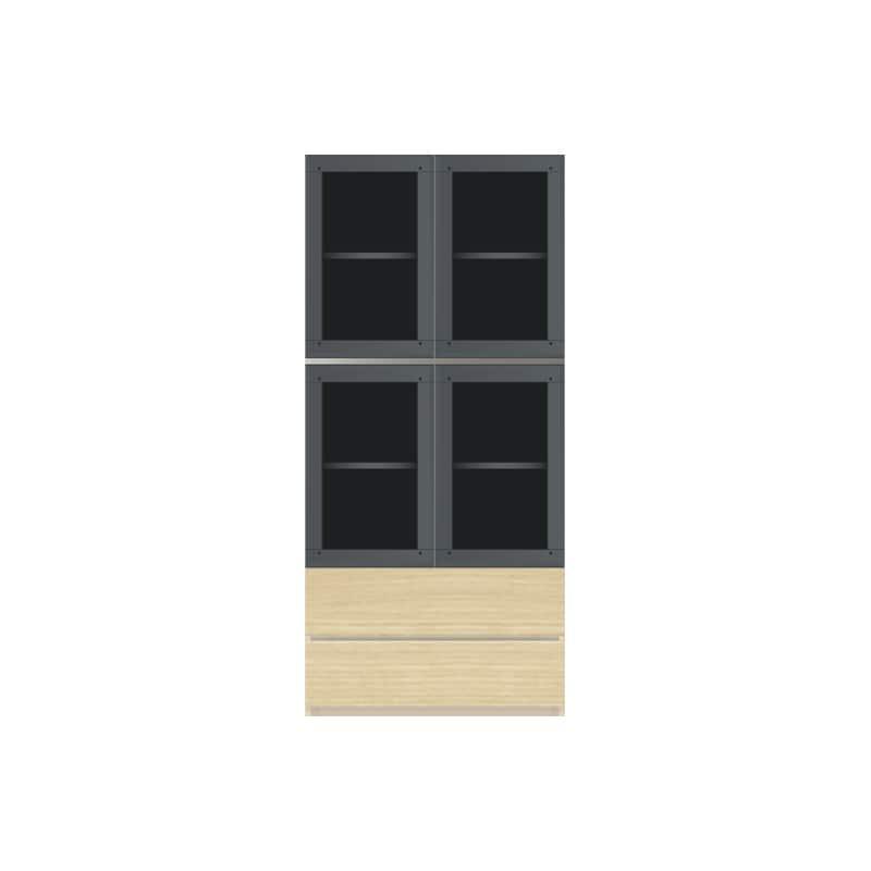 パモウナ 壁面収納 ガラス扉キャビネット CA−G800 O(ホワイトオーク):収納をまとめてすっきり