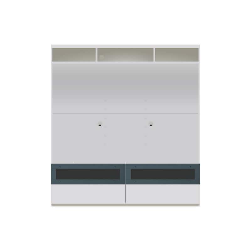 パモウナ 壁面収納 TVボード【上部オープン】CA−1602 W(パールホワイト):収納をまとめてすっきり