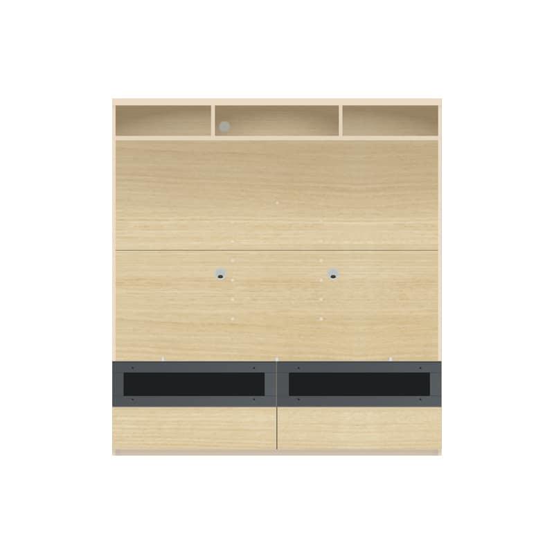 パモウナ 壁面収納 TVボード【上部オープン】CA−1602 O(ホワイトオーク):収納をまとめてすっきり