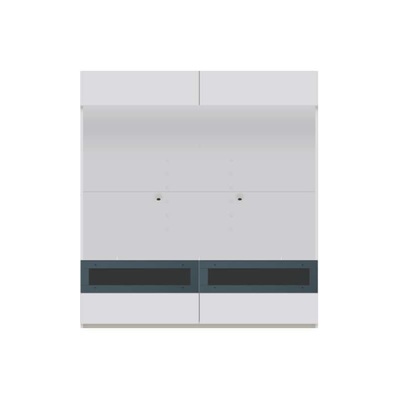 パモウナ 壁面収納 TVボード【上部フラップ扉】CA−G1603 W(パールホワイト):収納をまとめてすっきり
