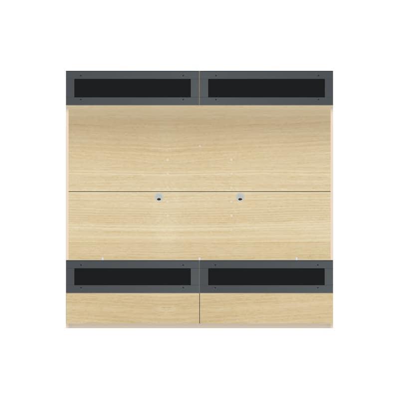 パモウナ 壁面収納 TVボード【上部フラップガラス扉】CA−G1803 O(ホワイトオーク):収納をまとめてすっきり
