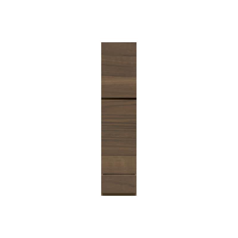 パモウナ 壁面収納 キャビネット CA−400 N(ウォールナット):収納をまとめてすっきり