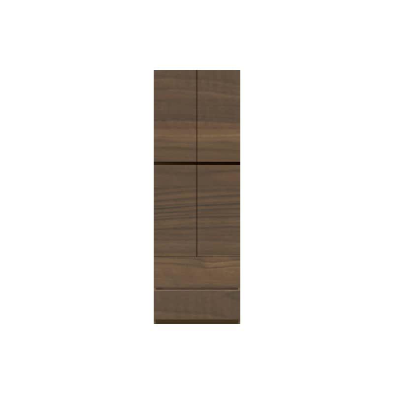 パモウナ 壁面収納 キャビネット CA−600 N(ウォールナット):収納をまとめてすっきり
