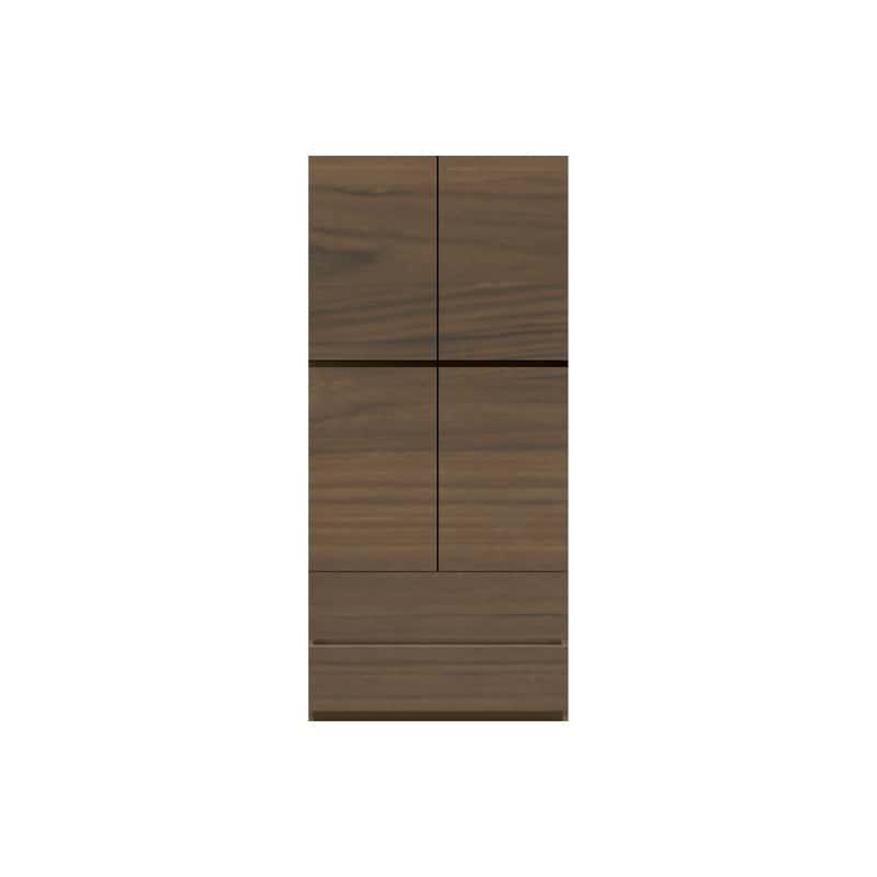 パモウナ 壁面収納 キャビネット CA−800 N(ウォールナット):収納をまとめてすっきり