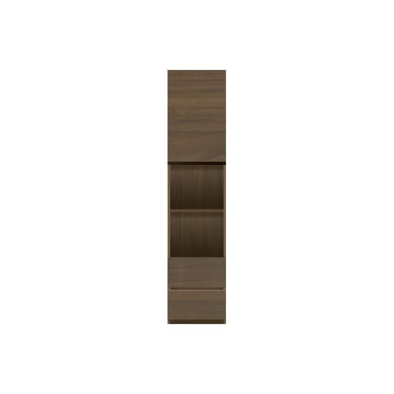 パモウナ 壁面収納 キャビネット左開き【中段オープン】 CA−401L N(ウォールナット):収納をまとめてすっきり