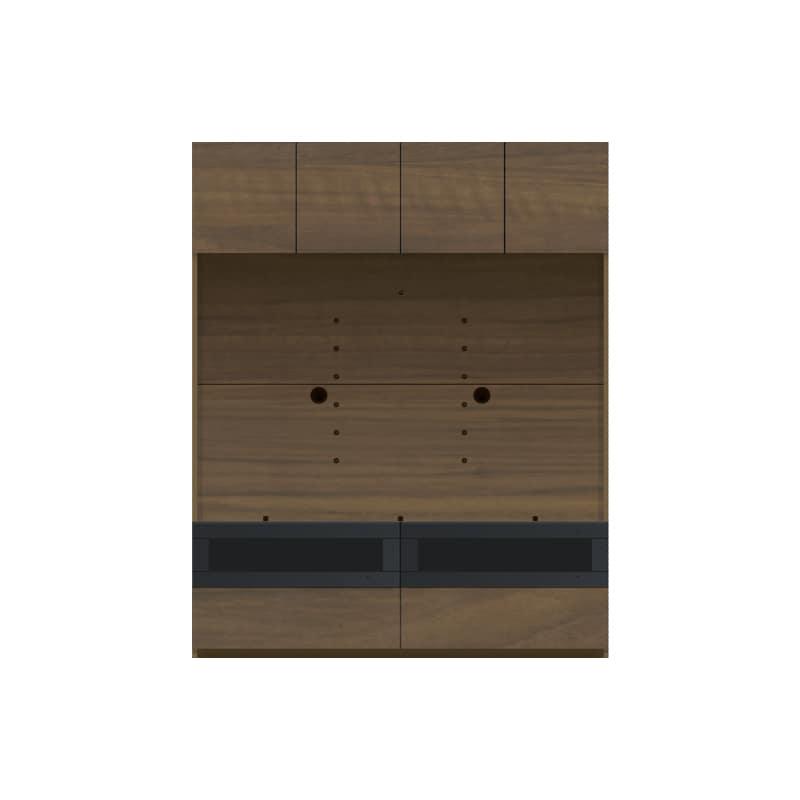 パモウナ 壁面収納 TVボード CA−1400 N(ウォールナット):収納をまとめてすっきり
