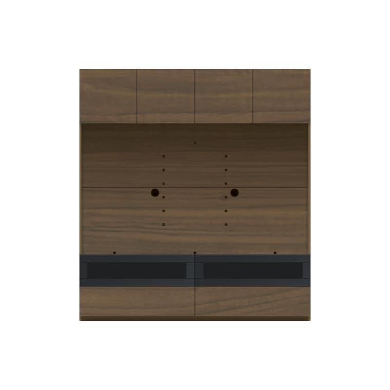 パモウナ 壁面収納 TVボード CA−1600 N(ウォールナット):収納をまとめてすっきり