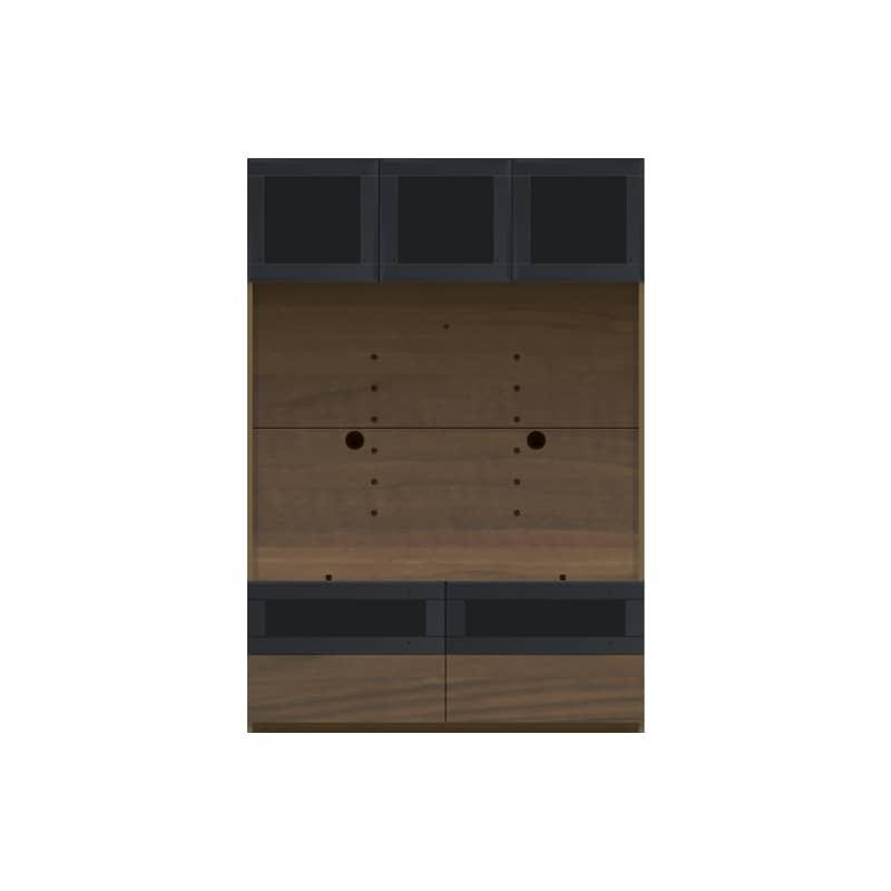 パモウナ 壁面収納 TVボード CA−G1200 N(ウォールナット):収納をまとめてすっきり