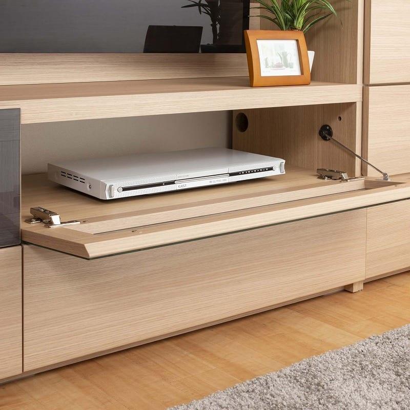 パモウナ 壁面収納 TVボード CA−G1400 N(ウォールナット):デッキ部分の配線がラクラク