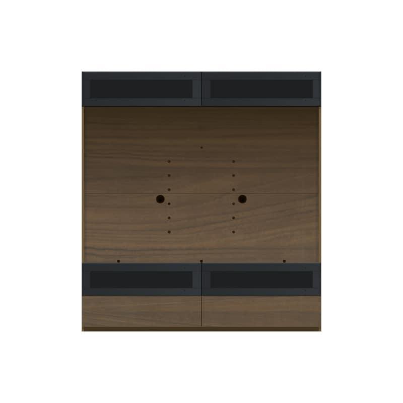 パモウナ 壁面収納 TVボード CA−G1603 N(ウォールナット):収納をまとめてすっきり