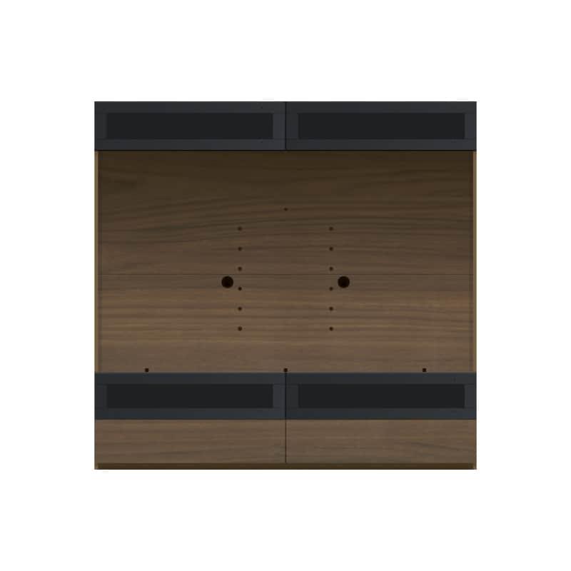 パモウナ 壁面収納 TVボード CA−G1803 N(ウォールナット):収納をまとめてすっきり