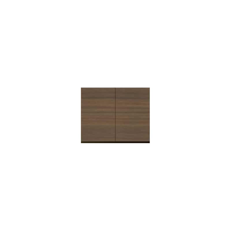 パモウナ 壁面収納 上置 CA−80U N(ウォールナット):収納をまとめてすっきり