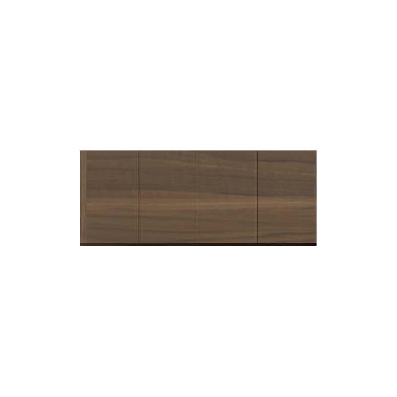パモウナ 壁面収納 上置 CA−160U N(ウォールナット):収納をまとめてすっきり