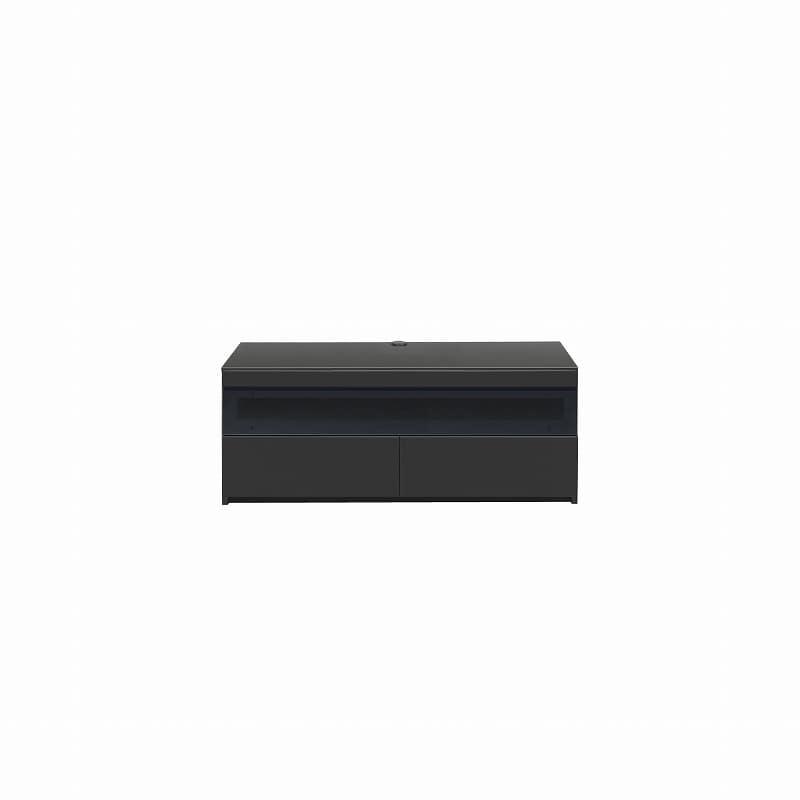 パモウナ テレビボード BW−120 Bミッドブラック:大型TVに対応