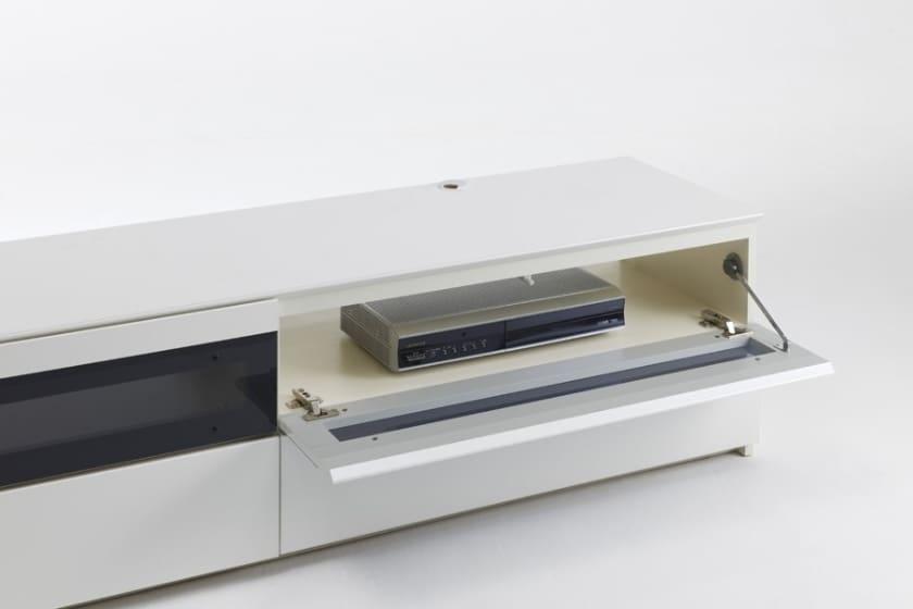 パモウナ テレビボード BW-120 W (パールホワイト)