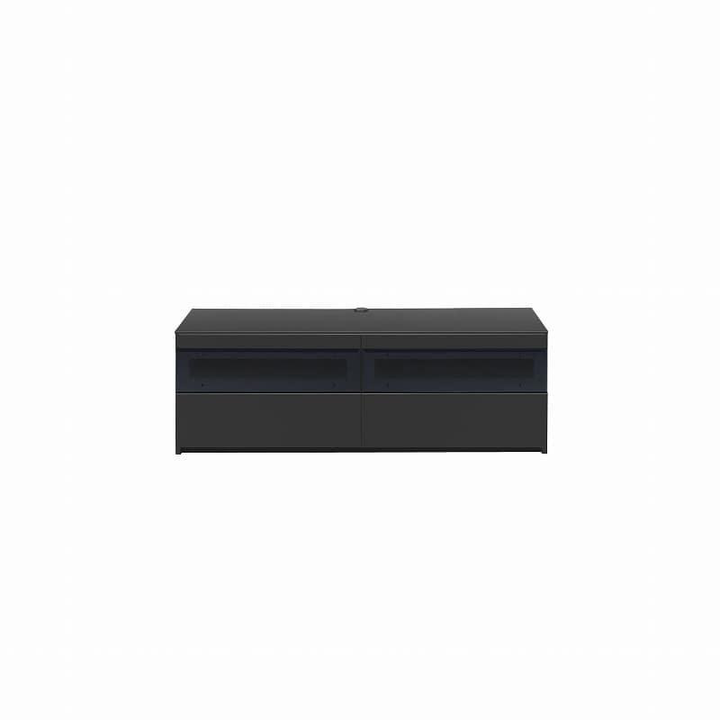パモウナ テレビボード BW−140 Bミッドブラック:大型TVに対応