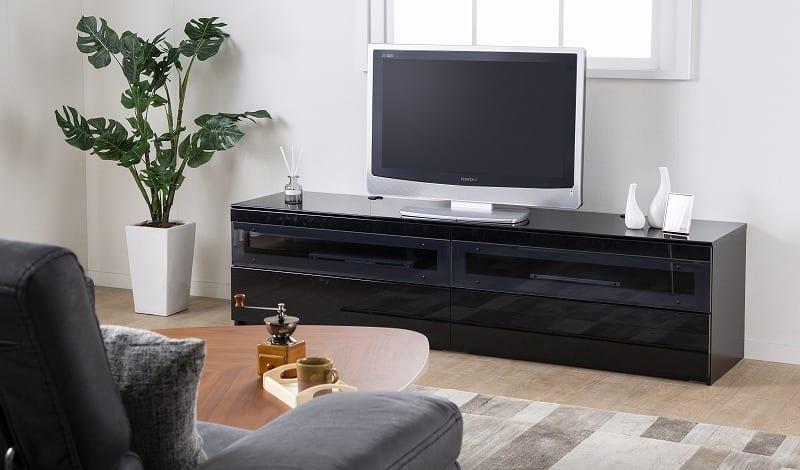 パモウナ テレビボード BW-140 W (パールホワイト):大型TVに対応
