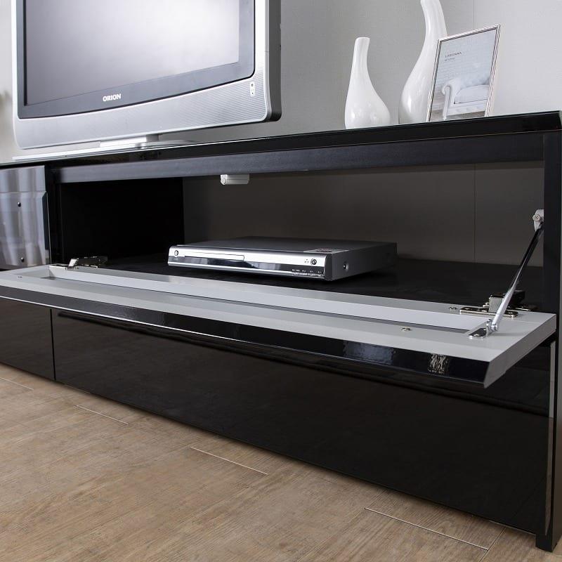 パモウナ テレビボード BW-140 W (パールホワイト):背面スッキリ