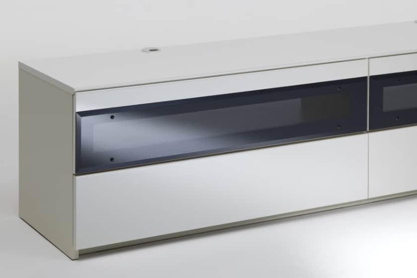パモウナ テレビボード BW-140 W (パールホワイト)