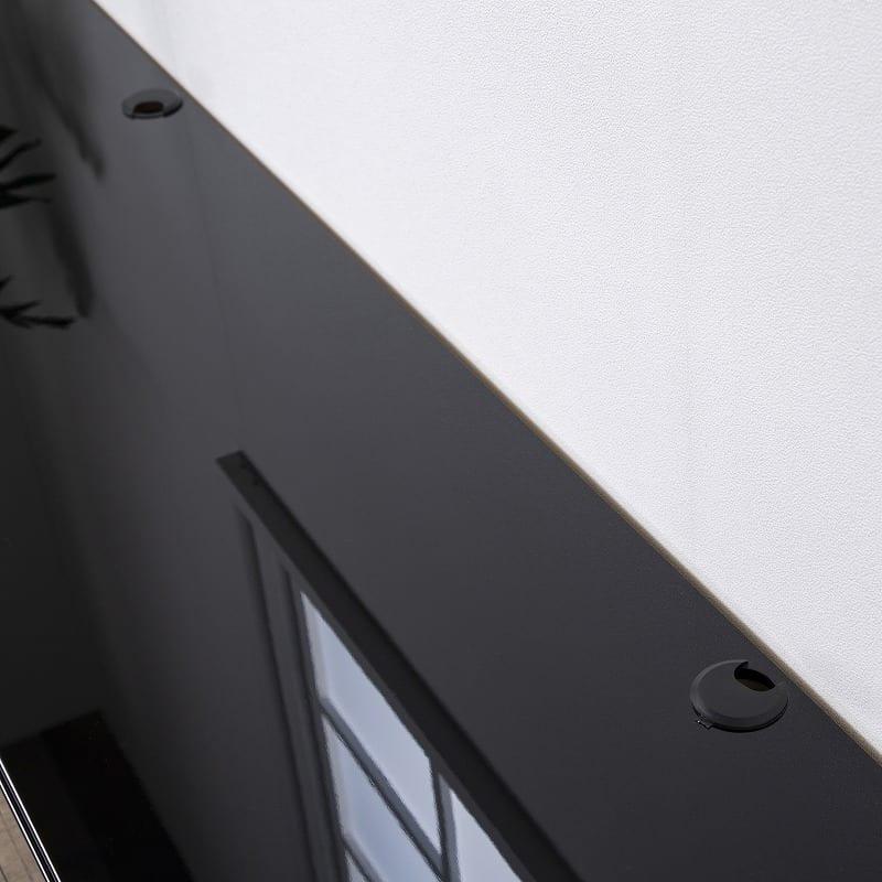 パモウナ テレビボード BW-140 W (パールホワイト):配線孔