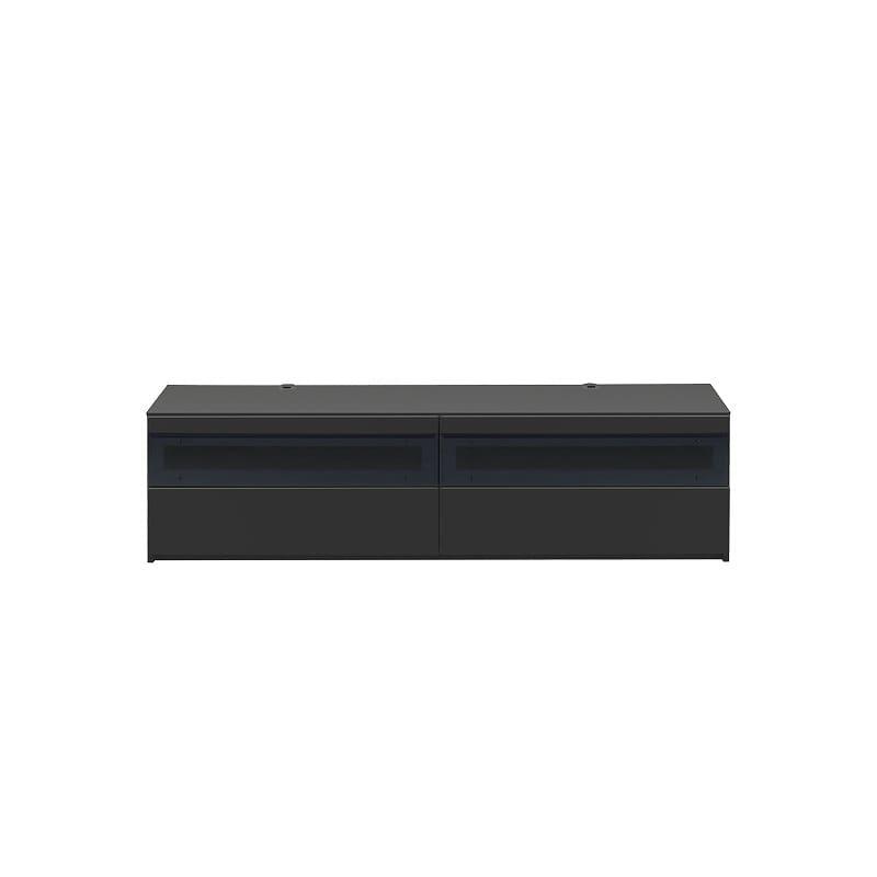 パモウナ テレビボード BW−180 Bミッドブラック:大型TVに対応
