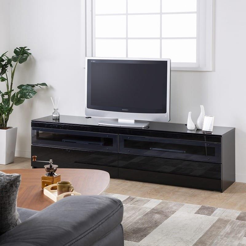 パモウナ テレビボード BW−200 Bミッドブラック:安心の国産品質