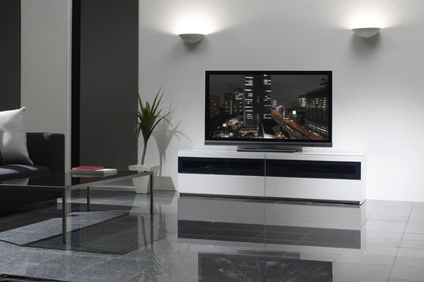 パモウナ テレビボード BW-200 W (パールホワイト)