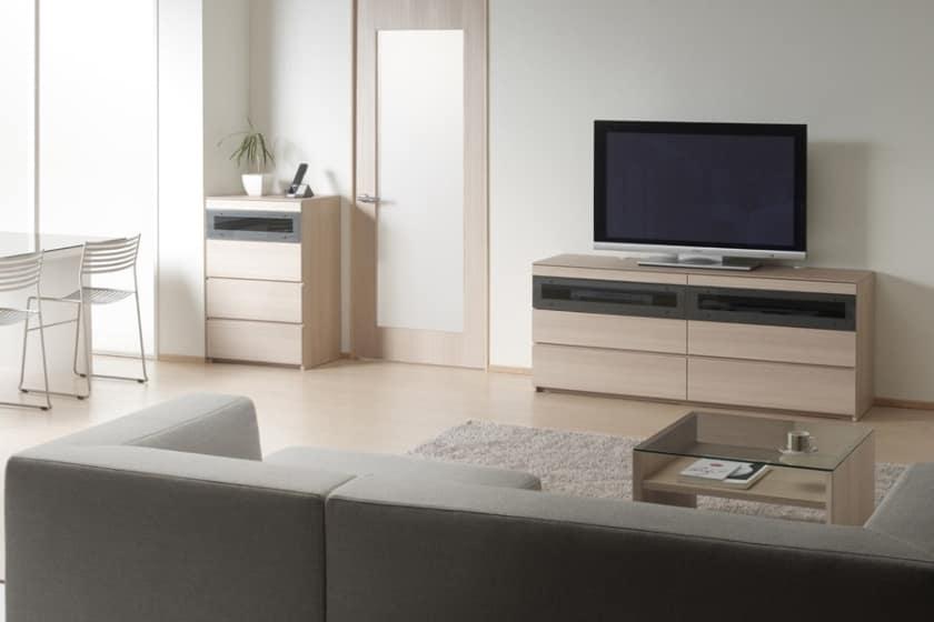 パモウナ テレビボード GV-120 O (ホワイトオーク)