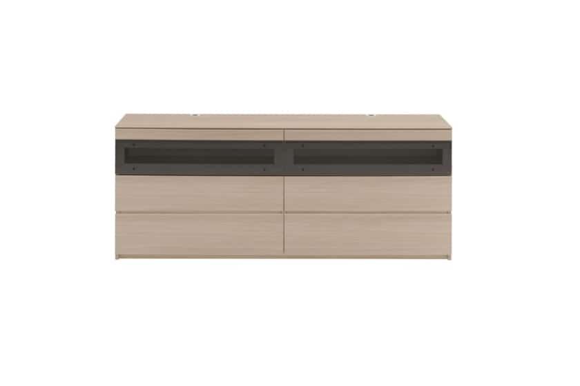 パモウナ テレビボード GV-160 O (ホワイトオーク):パモウナ テレビボード