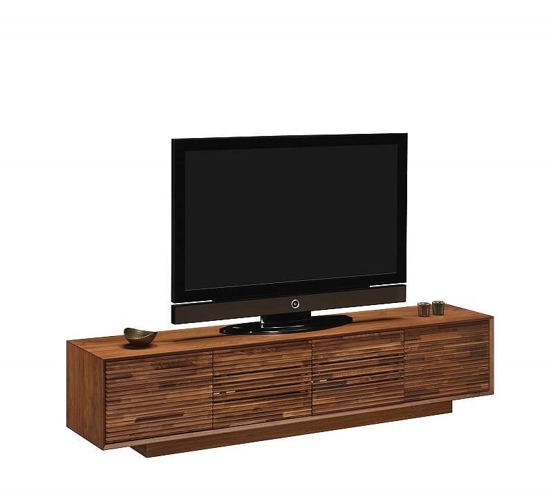 ローボード ブルックスプレミアム Q15757 ウォールナット:テレビは商品には含まれません