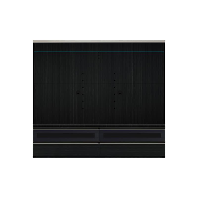 パモウナ TVボード VD-1800B (ブラックグレイン)