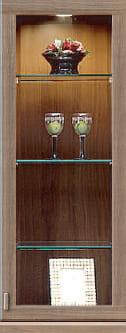 コレクションボード「ムゼオ」42【上台】ガラスキャビネット ウォールナット:コレクションボード「ムゼオ」42【上台】ガラスキャビネット