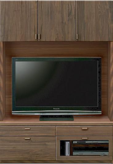 壁面TVボード「ムゼオ」126【TVボード】A板戸 ウォールナット:壁面TVボード「ムゼオ」126【TVボード】A板戸