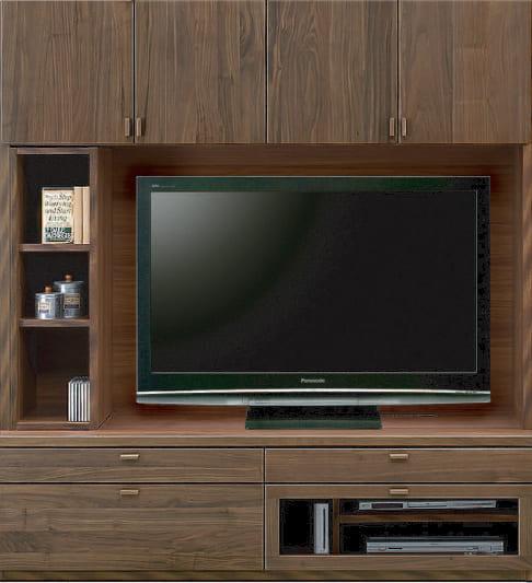 壁面TVボード「ムゼオ」168【TVボード】A板戸 ウォールナット:壁面TVボード「ムゼオ」168【TVボード】A板戸