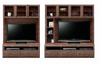 壁面TVボード「ムゼオ」168【TVボード】A板戸 ウォールナット