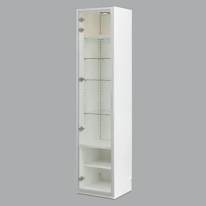 コレクションボード ヴァール幅40cm(左開き) ホワイト:コレクションボード