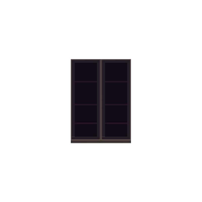壁面収納 上台(ガラス扉) OV−80D Q クラッシーオーク:壁面収納 上台(ガラス扉)