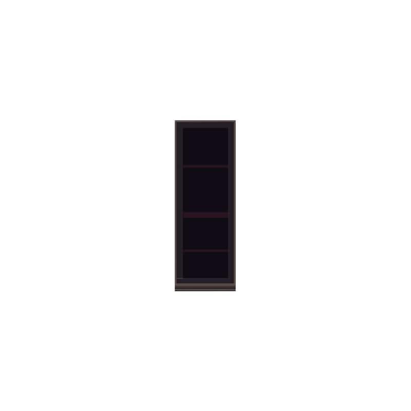 壁面収納 上台(ガラス扉/右開) OV−40DR Q クラッシーオーク:壁面収納 上台(ガラス扉/右開)