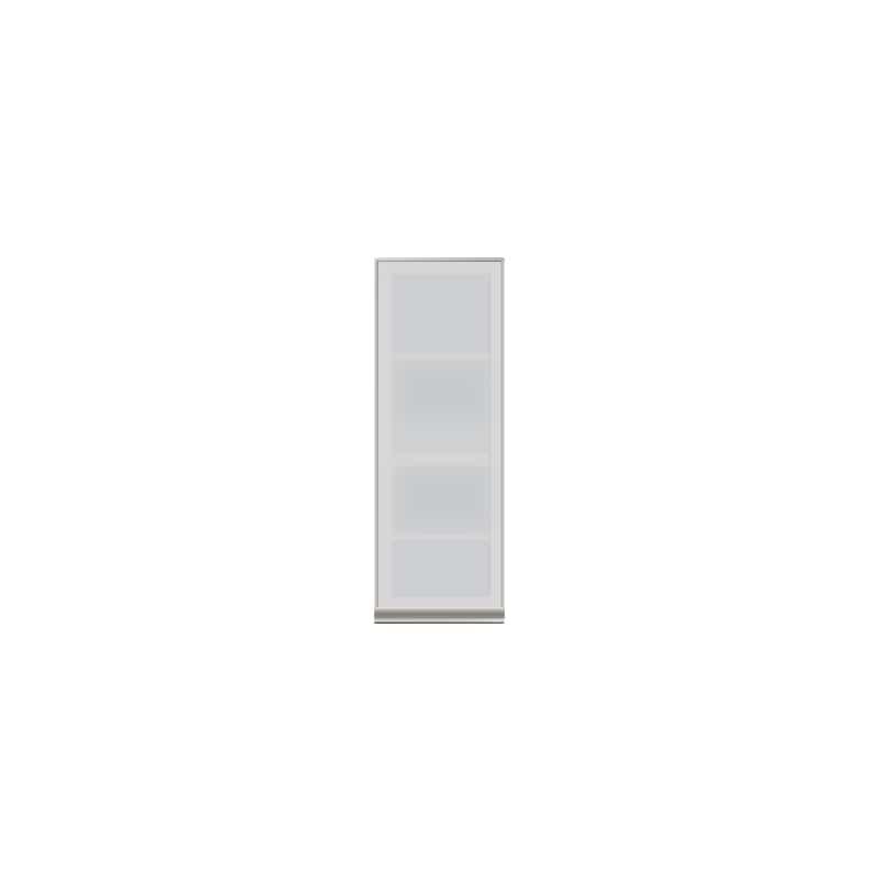 壁面収納 上台(ガラス扉/左開) OV−40DL A シルキーアッシュ:壁面収納 上台(ガラス扉/左開)