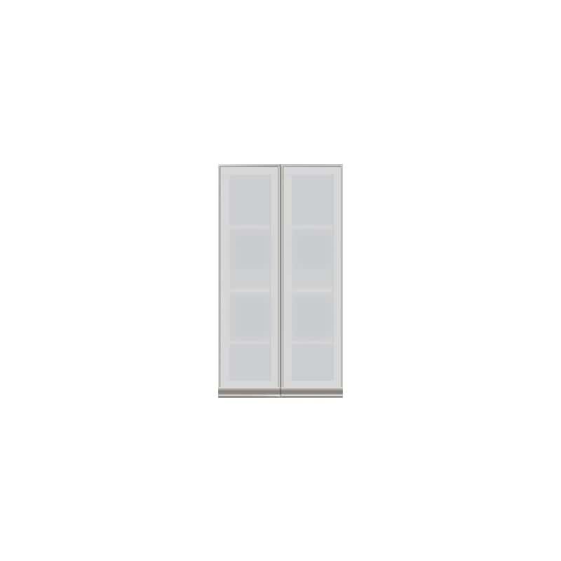 壁面収納 上台(ガラス扉) OV−60D A シルキーアッシュ:壁面収納 上台(ガラス扉)