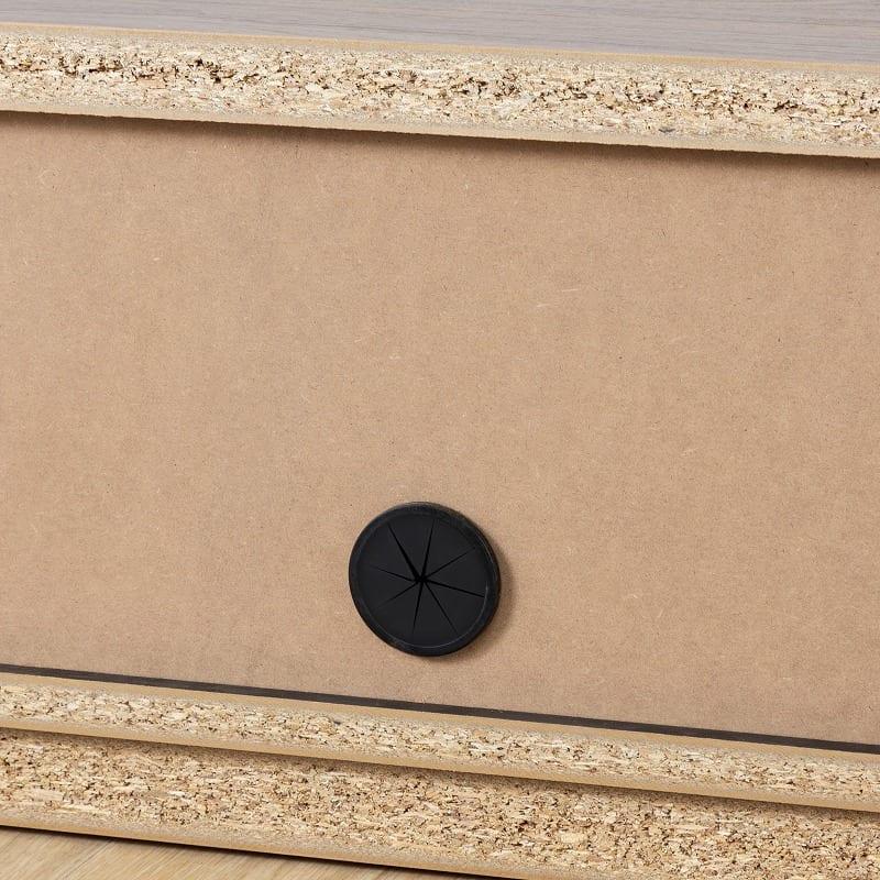 ローボード ウィッシュ 180TV(NA):背面のコード穴